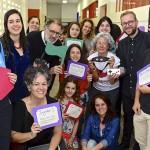 Professores e pais de estudantes na Feira Cultural Amorim Lima