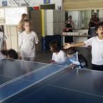 mesa de ping-pong na escola pública Maria Luíza Fornasier Franzin