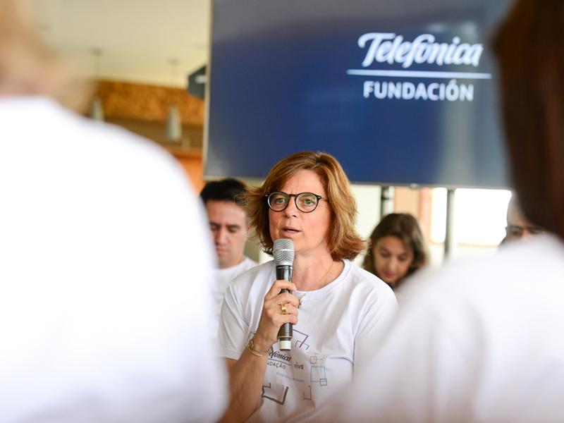Carmen Morenes, responsável global pelo Programa de Voluntariado