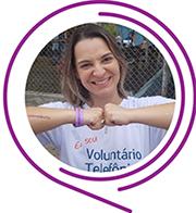 Rosto de Ariane Araújo, durante o Dia dos Voluntários