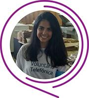 Rosto de Bruna Borkian, durante o Dia dos Voluntários