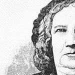 A educadora, escritora e poetisa Nísia Floresta tem o rosto retratado em desenho.