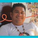 Professor Raimundo Cruz da Silva, diretor da Escola Indígena Municipal Kanata T-Ykua