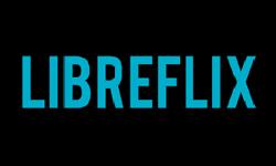 Imagem mostra o logo da plataforma Libreflix