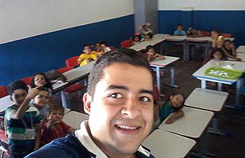 Joabson Luiz Pereira em sala de aula