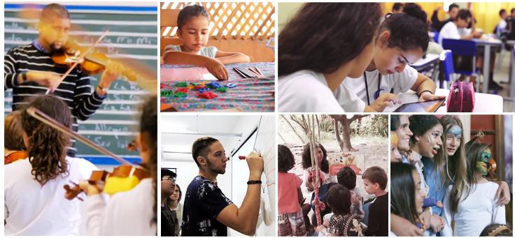 Imagem mostra trecho em forma de mosaico do documentário Janelas de Inovação