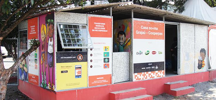 Ponto de reciclagem do Grajaú