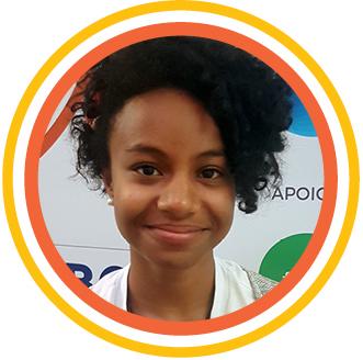 """Foto 3_Abigail - Na opinião de Abigail Lima os Santos, 16, o diálogo também foi o ponto alto do Educação 360° Jovem. """"Ter minha voz ouvida é importante"""", disse a estudante da ETEC de Itaquera (SP)."""