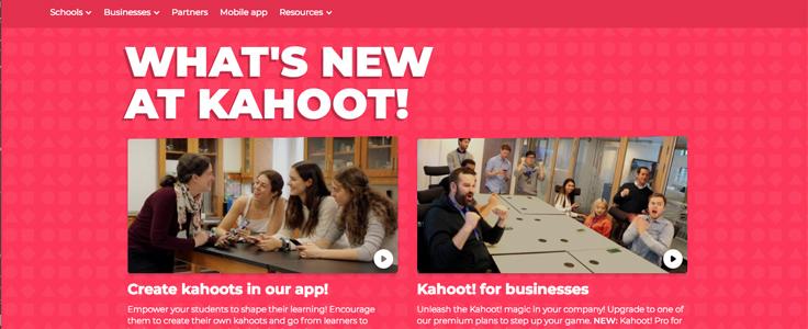Imagem mostra tela do app Kahoot