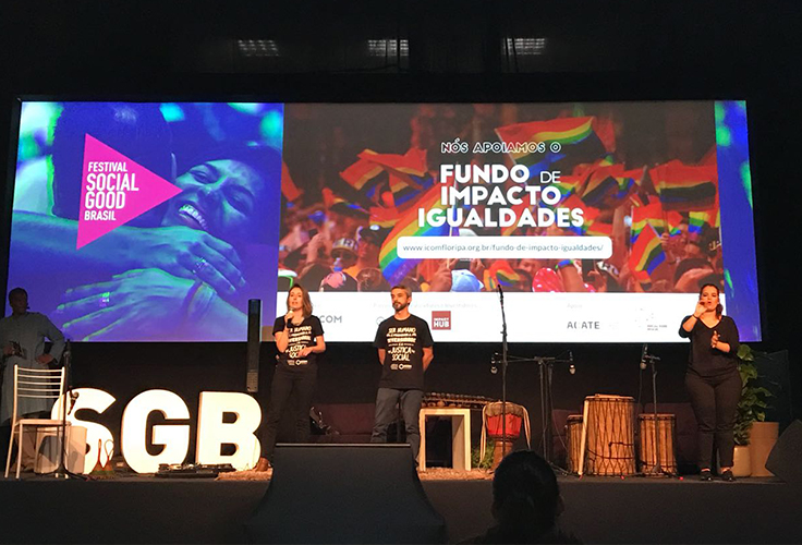Palestrantes falam sobre apoio ao Fundo de Imacto Igualdades, no festival Social Good Brasil