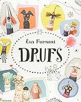 Capa de Drufs tem vários personagens do livro do universo infantojuvenil desenhados em um semicírculo.
