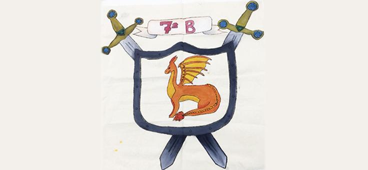 Imagem mostra o desenho de um estandarte