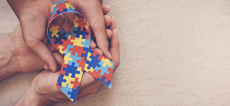 Imagem mostra um símbolo que representa o dia do orgulho autista