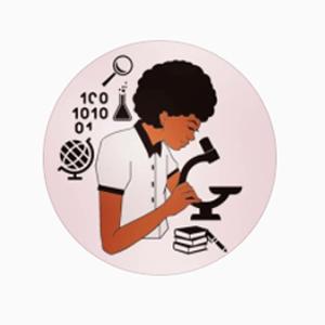Logotipo do projeto Mulheres Negras Fazendo Ciência