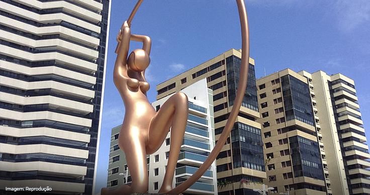 Imagem da estátua da Iracema Guardiã