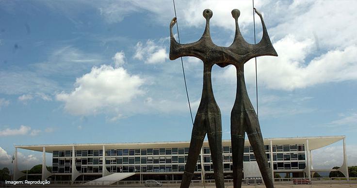 Imagem da estátua Os Candangos