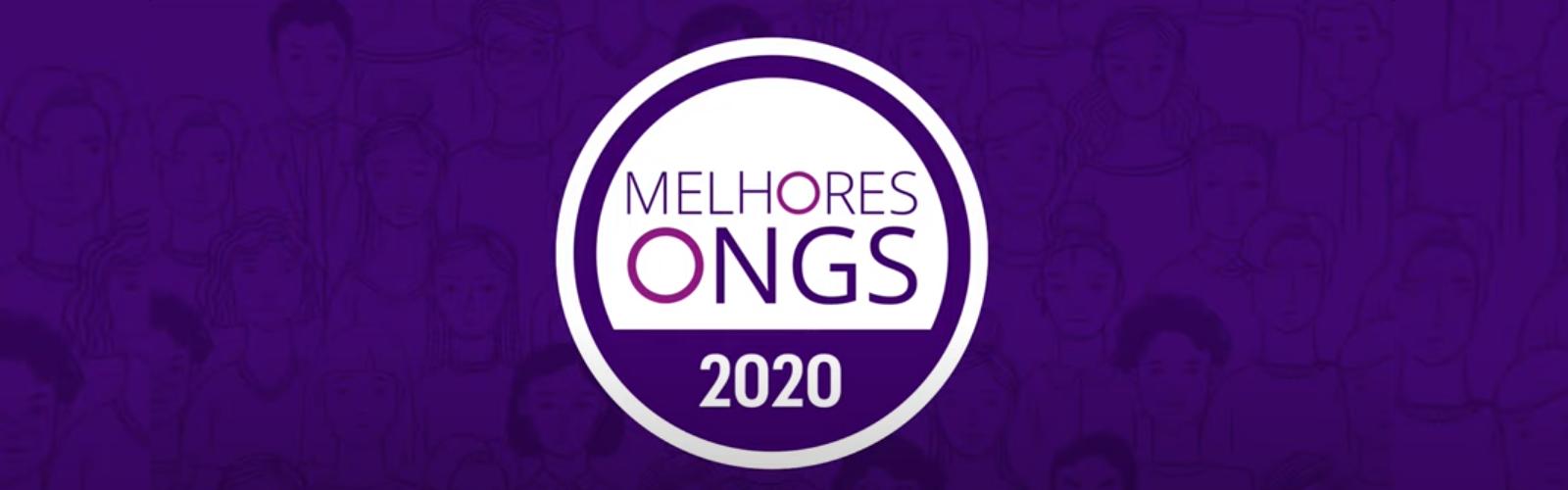 Imagem mostra o logotipo do Prêmio Melhores ONGs