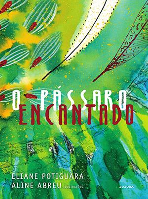 O Pássaro Encantado é uma das obras que faz referência à literatura indígena. A capa traz uma ilustração com efeito aquarela nas cores verde e azul com desenhos que remetem a penas de pássaros.