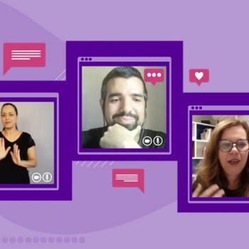 A imagem é um print da tela mostrando os convidados da live Lilian Bacich e Lucas Rocha