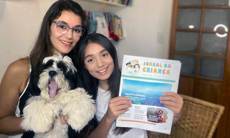 Jornal voltado para crianças trabalha leitura de notícias de forma acessível e educativa