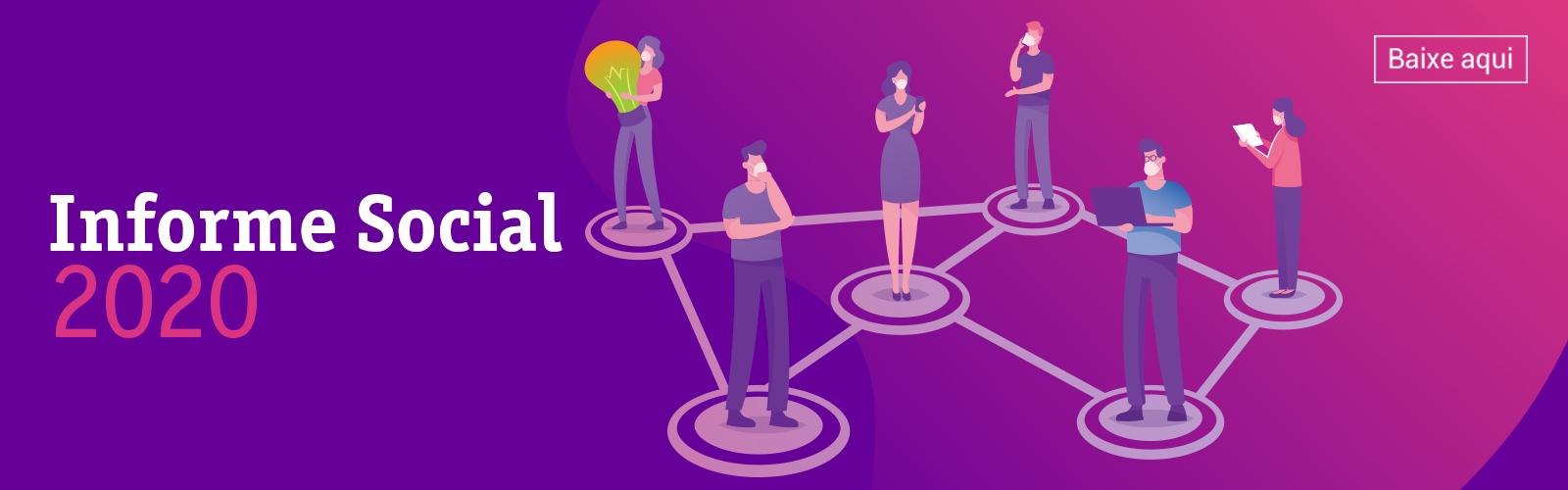 Capa do Informe Social 2020 da Fundação Telefônica Vivo