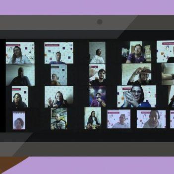 Imagem dos participantes do encontro do Programa de Voluntariado da Fundação Telefônica Vivo