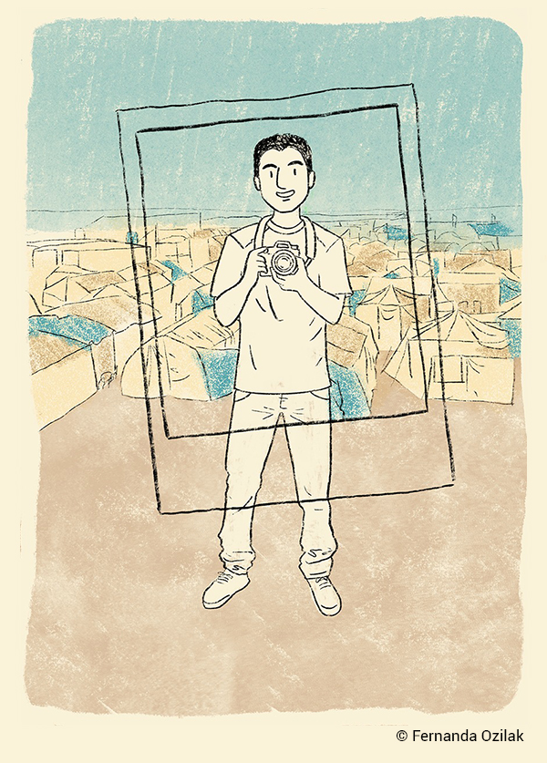 ilustração de Mohamad Al Jounde