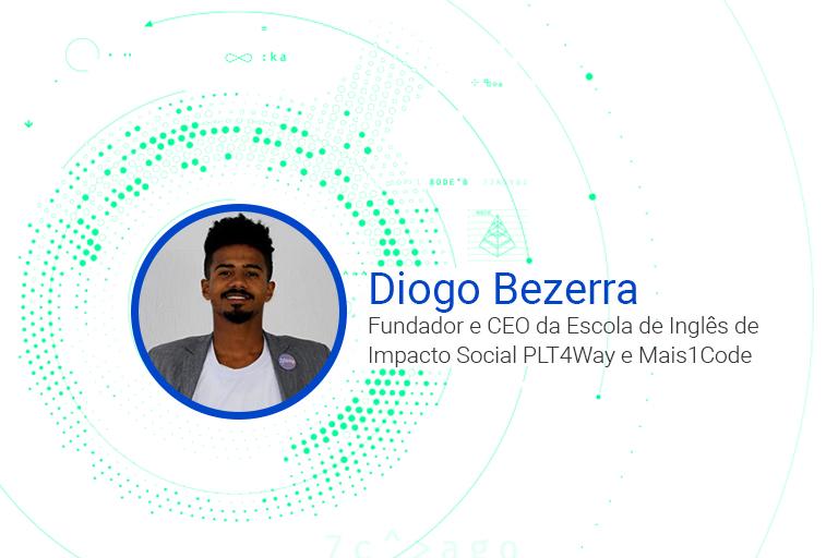 Diogo Bezerra Fundador e CEO da Escola de Inglês de Impacto Social PLT4Way e Mais1Code